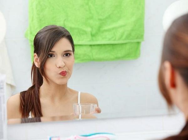 процедура полоскания рта