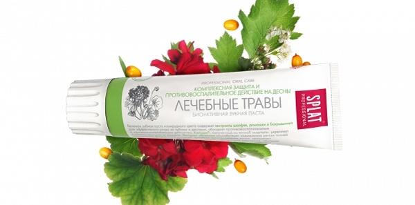 противоспалительное действие пасты Сплат Лечебные травы
