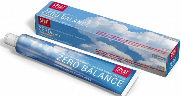 обзор зубной пасты Сплат ZERO BALANCE