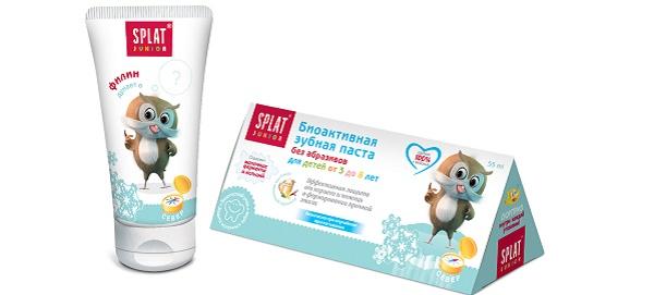 детская зубная паста со вкусом ванильная карамель
