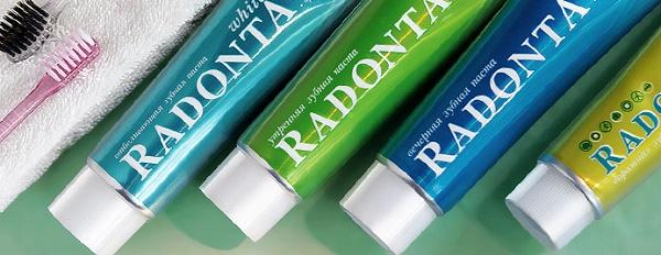 описание зубных паст Радонта