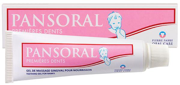 какой гель для прорезывания зубов лучше, действие Пансорала