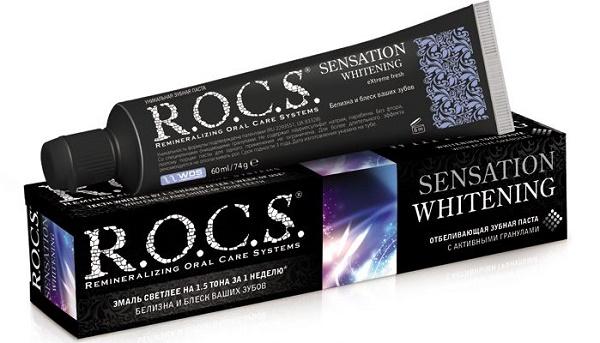 черная зубная паста рокс sensation whitening, отзывы пациентов и стоматологов