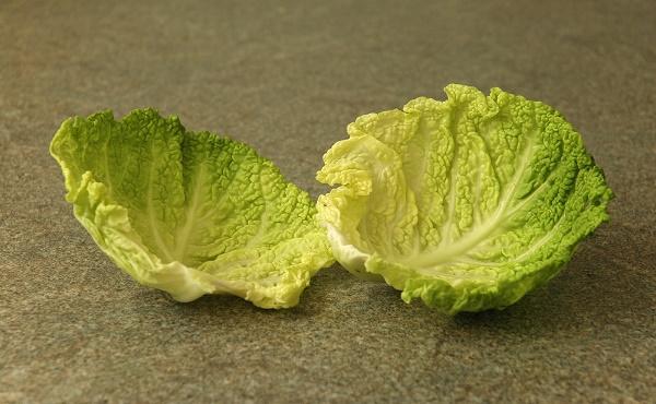лист капусты при флюсе зуба